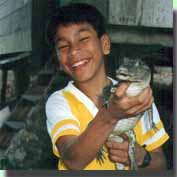 Boy and caiman