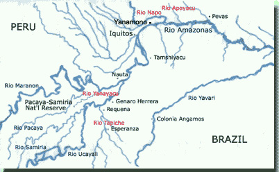map of Amazon region